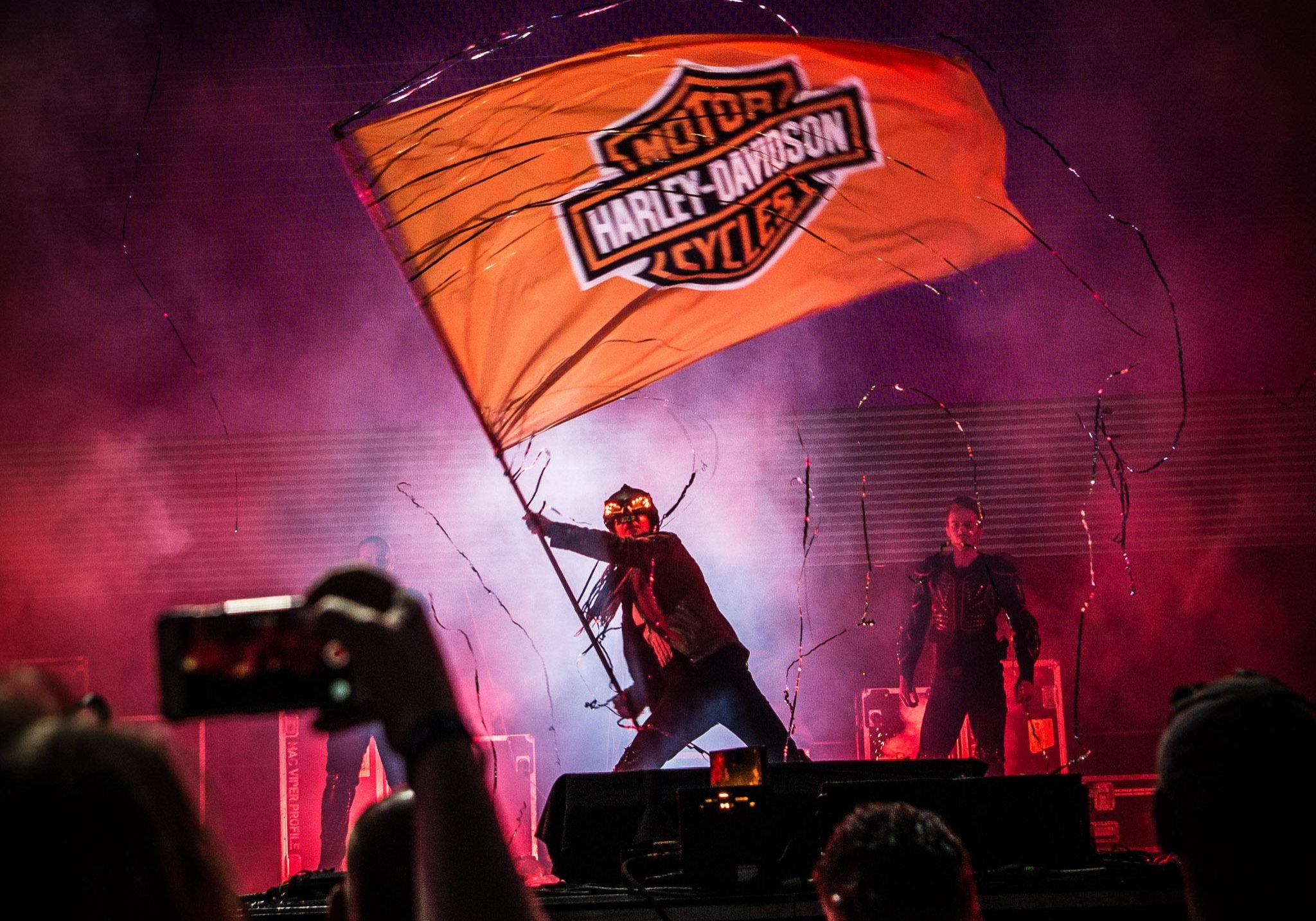 Pyroterra mega show Harley Davidson