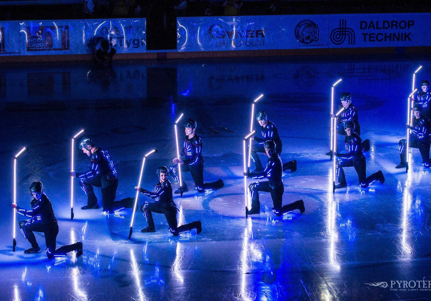 hokejová světelná show