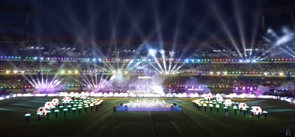 pyroterra led decorations grand openning ceremony India ISL 2019 led programming